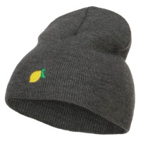 Beanie - Mini Lemon Embroidered Beanie