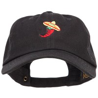 Embroidered Cap - Chili with Sombrero Embroidery Cap
