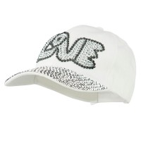 Ball Cap - White Love Rhinestone Jeweled Cap