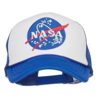 Embroidered Cap - Royal White NASA Lunar Patched Foam Cap | Coupon Free | e4Hats.com