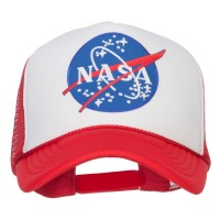 Embroidered Cap - Red White NASA Lunar Patched Foam Cap | Coupon Free | e4Hats.com