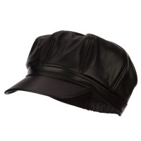 Newsboy - Ladies Vegan Leather Newsboy Hat | Free Shipping | e4Hats.com