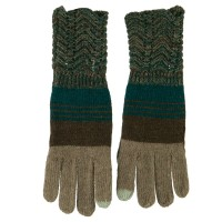 Glove - Women's Knit Striped Texting Glove | Free Shipping | e4Hats.com