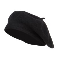 Beret - Black Ladies Wool Beret