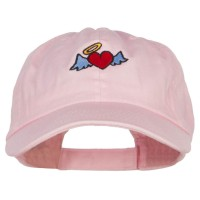Embroidered Cap - Heart Angel Embroidered Low Cap