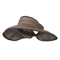 Visor - Brown Black UPF 40+ Metallic Roll Up Visor