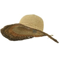 Dressy - Natural Multi Color Brim Hat