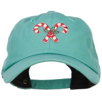 Embroidered Cap - Mistletoe Candy Cane Patched Cap | Free Shipping | e4Hats.com