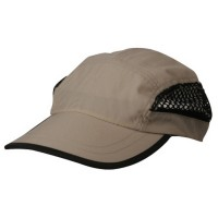 Ball Cap - Khaki Nylon Oxford Mesh Cap