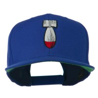 Embroidered Cap - Royal Missile Flat Bill Embroidered Cap