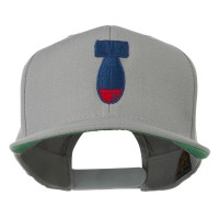 Embroidered Cap - Silver Missile Flat Bill Embroidered Cap