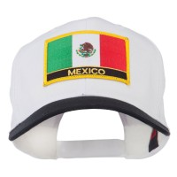Embroidered Cap - Black White Mexico Flag Patched Cap   Coupon Free   e4Hats.com