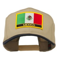 Embroidered Cap - Navy Khaki Mexico Flag Patched Cap   Coupon Free   e4Hats.com