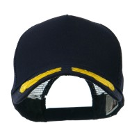 Embroidered Cap - Navy Gold Oak Leaves Patch Cap | Coupon Free | e4Hats.com