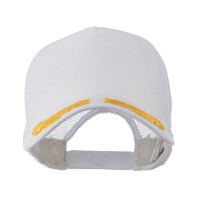 Embroidered Cap - White Gold Oak Leaves Patch Cap