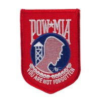 Patch - Pow Red Pow Mia Embroidered Patch