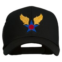 Embroidered Cap - Black Air Corps Embroidered Mesh Cap