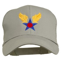 Embroidered Cap - Grey Air Corps Embroidered Mesh Cap
