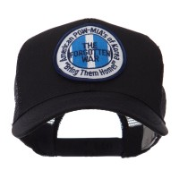 Embroidered Cap - Korea Pow Mia Embroidered Patch Mesh Cap