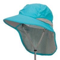 Outdoor - Aqua Microfiber UV Large Bill Flap Hat