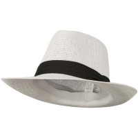 Fedora - White Men's Large Brim Fedora Hat | Coupon Free | e4Hats.com