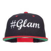 Embroidered Cap - Black Red Glam Embroidered Snapback