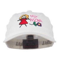 Embroidered Cap - White Youth My Mom Embroidered Cap