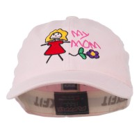 Embroidered Cap - Pink Youth My Mom Embroidered Cap