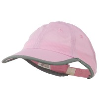 Ball Cap - Pink Athletic Mesh Ponytail Cap