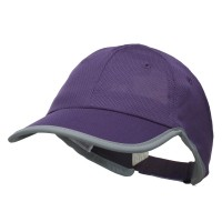 Ball Cap - Purple Athletic Mesh Ponytail Cap