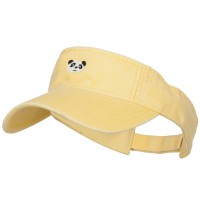 Visor - Lemon Yellow Mini Panda Embroidered Visor