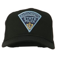 Embroidered Cap - Black Massachusetts Police Patch Cap