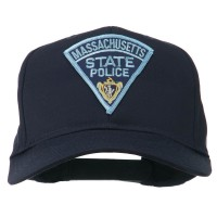 Embroidered Cap - Navy Massachusetts Police Patch Cap