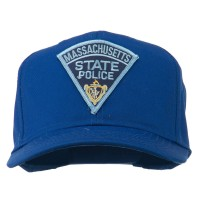 Embroidered Cap - Royal Massachusetts Police Patch Cap