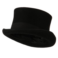 Dressy - Black Men's Tall Crown Felt Top Hat