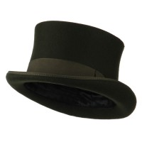 Dressy - Green Men's Tall Crown Felt Top Hat