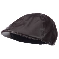 Ivy - Brown Men's PU Ivy Hat