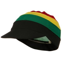 Wrap - Jamaican Jamaican Multi Color Visor Beanie | Coupon Free | e4Hats.com