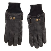 Glove - Black Men's Texting Leather Glove