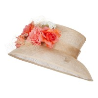 Dressy - Sand Mixed Flower Sinamay Hat | Coupon Free | e4Hats.com