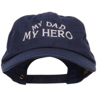 Embroidered Cap - My Dad My Hero Embroidered Cap | Free Shipping | e4Hats.com