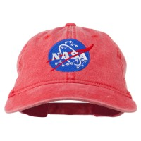 Embroidered Cap - Red NASA Insignia Embroidered Dyed Cap