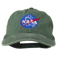 Embroidered Cap - Dark Green NASA Insignia Embroidered Dyed Cap