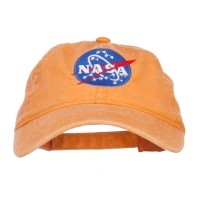 Embroidered Cap - Orange NASA Insignia Embroidered Dyed Cap