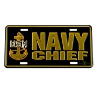 Plate, Frame - Navy 3D Car License Plate   Free Shipping   e4Hats.com