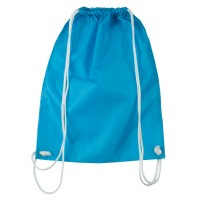 Bag - Turquoise Nylon Drawstring Solid Backpack