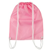 Bag - Pink Nylon Drawstring Solid Backpack