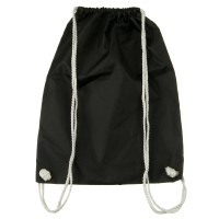 Bag - Black Nylon Drawstring Solid Backpack