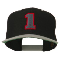 Embroidered Cap - Athletic Number 00 Two Tone Cap   Free Shipping   e4Hats.com