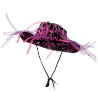 Costume - Pink Neon Flame Cowboy Tube Hat